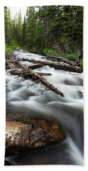 Beach Towel featuring the photograph Magic Mountain Stream by James BO Insogna