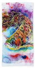 Magic Of Arowana Beach Towel