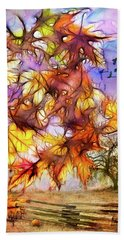 Magic Of Autumn Beach Towel