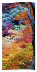 Magical Autumn Beach Towel