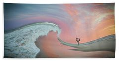 Beach Towel featuring the photograph Magical Beach Sunset by Beth Sawickie