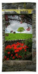 Beach Towel featuring the photograph Magical County Clare Countryside by James Truett