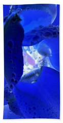 Magical Flower I - Blue Velvet Beach Sheet
