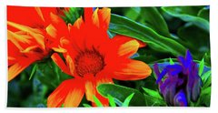 Magical Flowers Beach Towel