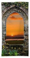Beach Towel featuring the photograph Magical Irish Spring Sunrise by James Truett