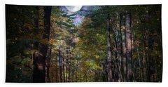 Magical Moonlit Forest Beach Sheet by Judy Palkimas
