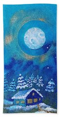 Magical Night At The Cabin Beach Towel