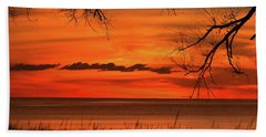 Magical Orange Sunset Sky Beach Towel
