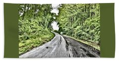 Magical Road Home Beach Towel