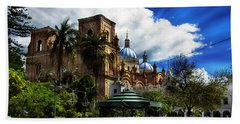 Beach Sheet featuring the photograph Magnificent Center Of Cuenca, Ecuador IIi by Al Bourassa