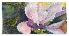 Beach Towel featuring the painting Magnificent Magnolia by Lucia Grilletto