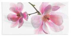 Magnolia Is The Harbinger Of Spring. Beach Towel