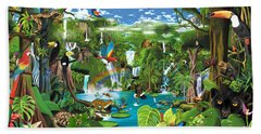 Magnificent Rainforest Beach Towel