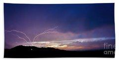 Magnificent Sunset Lightning Beach Sheet