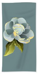 Beach Towel featuring the digital art Magnolia Blossom Graphic by MM Anderson