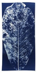 Magnolia Leaf Skeleton Beach Towel