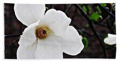 Magnolia Memories 1 Beach Towel by Sarah Loft