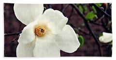 Magnolia Memories 2 Beach Towel by Sarah Loft