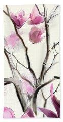 Magnolias In Bloom Beach Sheet