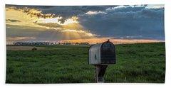 Mail Box In North Dakota  Beach Towel by John McGraw