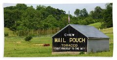 Mail Pouch Tobacco Barn In Maryland Beach Towel