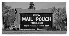 Beach Sheet featuring the photograph Mail Pouch Tobacco In Black And White by Michiale Schneider