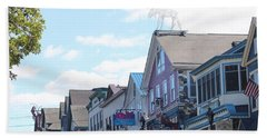 Beach Sheet featuring the photograph Main Street Bar Harbor Maine by Living Color Photography Lorraine Lynch