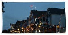 Main Street In Bar Harbor Maine Beach Sheet by Living Color Photography Lorraine Lynch
