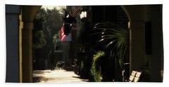 Main Street Morning Beach Towel by Deborah Smith