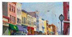 Main Street Nayck  Ny  Beach Towel