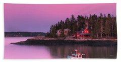 Maine Five Islands Coastal Sunset Beach Towel