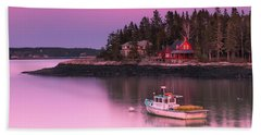Maine Five Islands Coastal Sunset Beach Towel