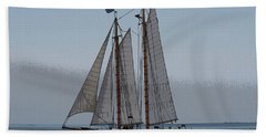 Maine Schooner Beach Towel
