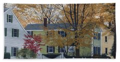 Autumn Day On Maine Street, Kennebunkport Beach Towel
