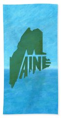 Maine Wordplay Beach Towel