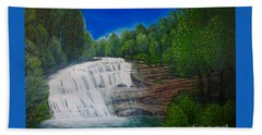 Majestic Bald River Falls Of Appalachia II Beach Towel by Kimberlee Baxter