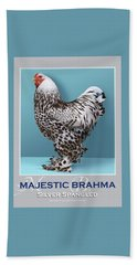 Majestic Brahma Silver Spangled Beach Towel
