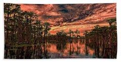 Majestic Cypress Paradise Sunset Beach Towel