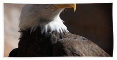 Majestic Eagle Beach Towel by Marie Leslie