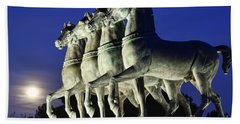 Majestic Horses In The Light Of The Moon Beach Towel