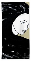 Majestic Lady J0715e Lemon Grass Green Pastel Painting 12-0626 Dcd494 C8c199 Beach Towel