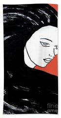 Majestic Lady J0715j Tangerine Tango Orange Pastel Painting 17-1463  E1523d F0532a Beach Towel