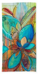 Spirit Lotus With Hope Beach Towel