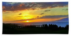 Majestic Maui Sunset Beach Towel