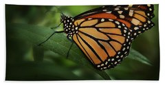 Majestic Monarch Beach Towel by Marie Leslie