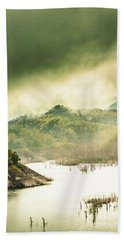 Majestic Morning Lake Beach Towel
