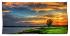 Beach Towel featuring the photograph Majestic Number 4 The Landing Reynolds Plantation Art by Reid Callaway