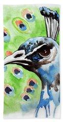 Majestic - Peacock Bird Art Beach Sheet