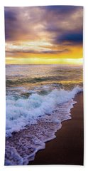 Beach Towel featuring the photograph Majestic Sunset In Paradise by Shelby Young