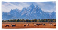 Majestic Teton Landscape Beach Towel